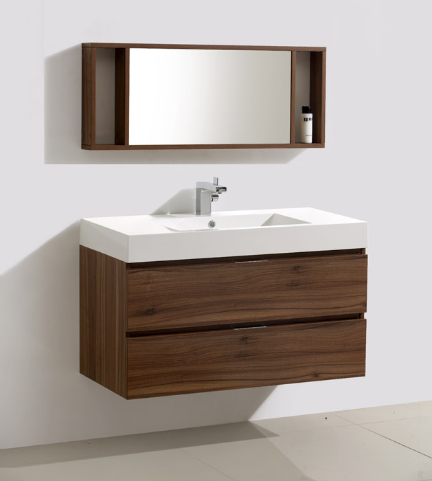 39 inch wall mounted modern bathroom vanity mv317000c for Bathroom cabinets modern